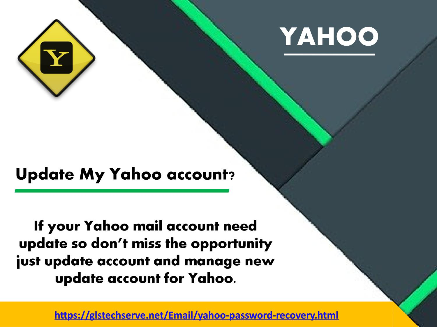 How can I update my Yahoo account?