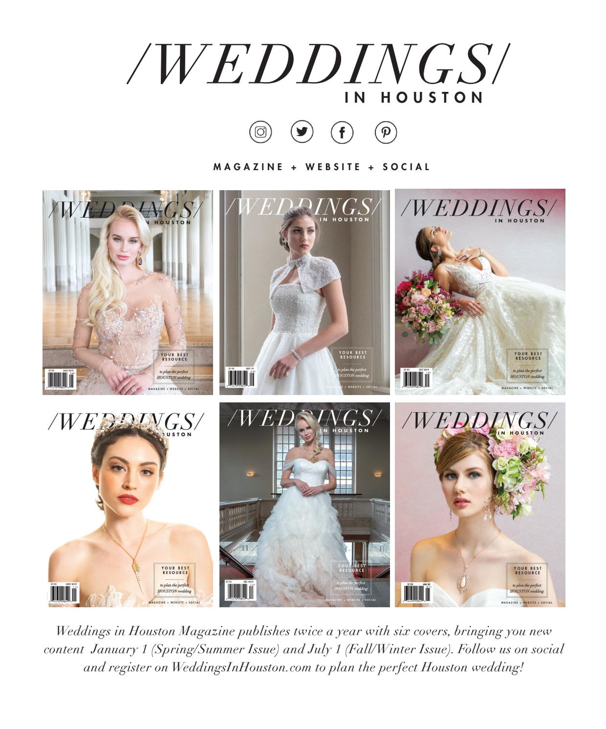 Weddings In Houston Fall Winter 2019 Issue By Weddings In Houston