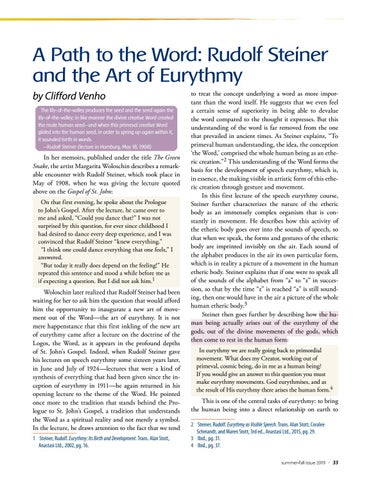 Page 33 of A Path to the Word: Rudolf Steiner and the Art of Eurythmy