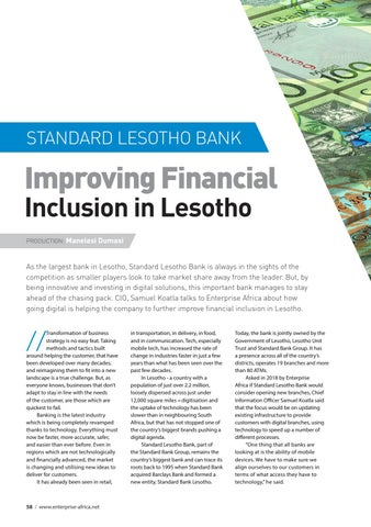 Page 58 of Standard Lesotho Bank