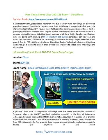 Cheat Sheet Cisco CCNA Data Center 200-155 Exam PDF