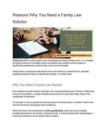Reasons Why You Need a Family Law Solicitor