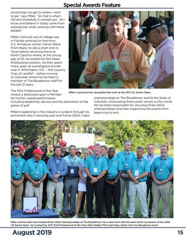 Page 15 of Miller Named 2019 Colorado PGA Golf Professional of the Year