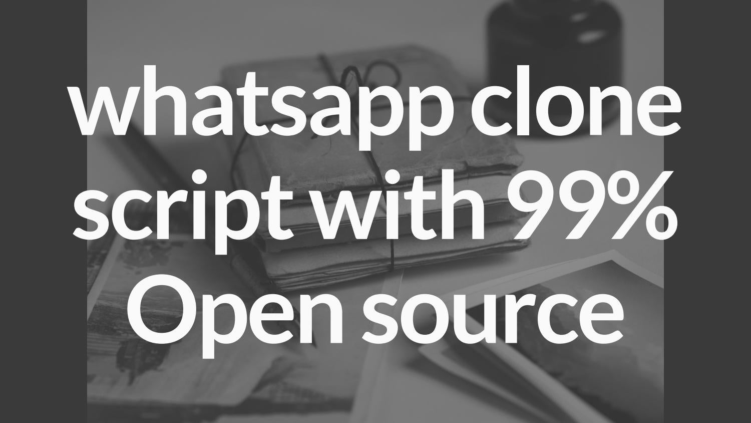 Whatsapp clone script with 99% Open source by Appkodes - issuu