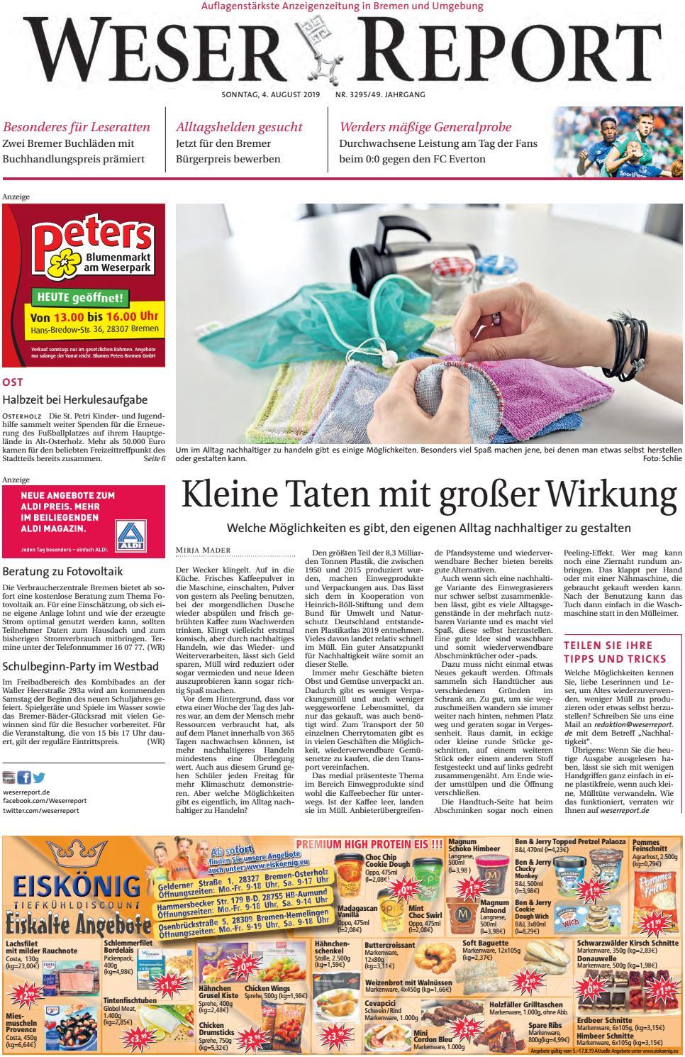 Weser Report Ost Vom 04 08 2019 By Kps Verlagsgesellschaft Mbh