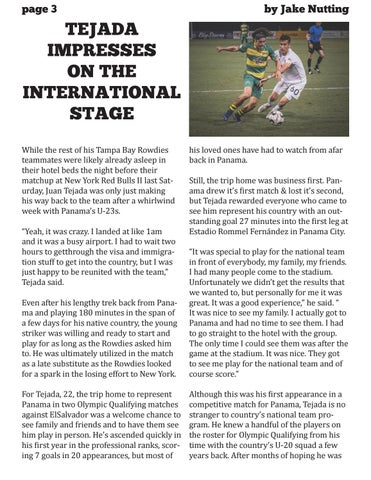 Page 4 of Tejada Impresses on the International Stage