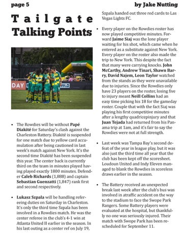 Page 6 of Tailgate Talking Points