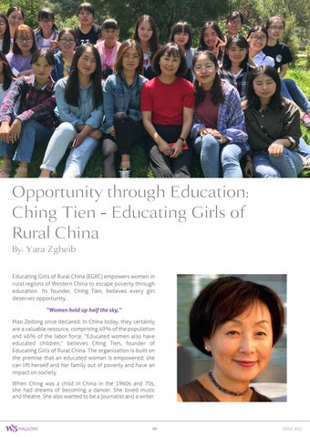 Page 60 of Opportunity Through Education, Ching Tien - Educating Girls of Rural China