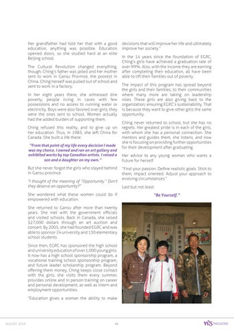 Page 61 of Opportunity Through Education, Ching Tien - Educating Girls of Rural China
