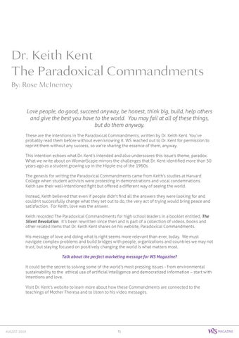Page 71 of Dr. Keith Kent, The Paradoxical Commandments
