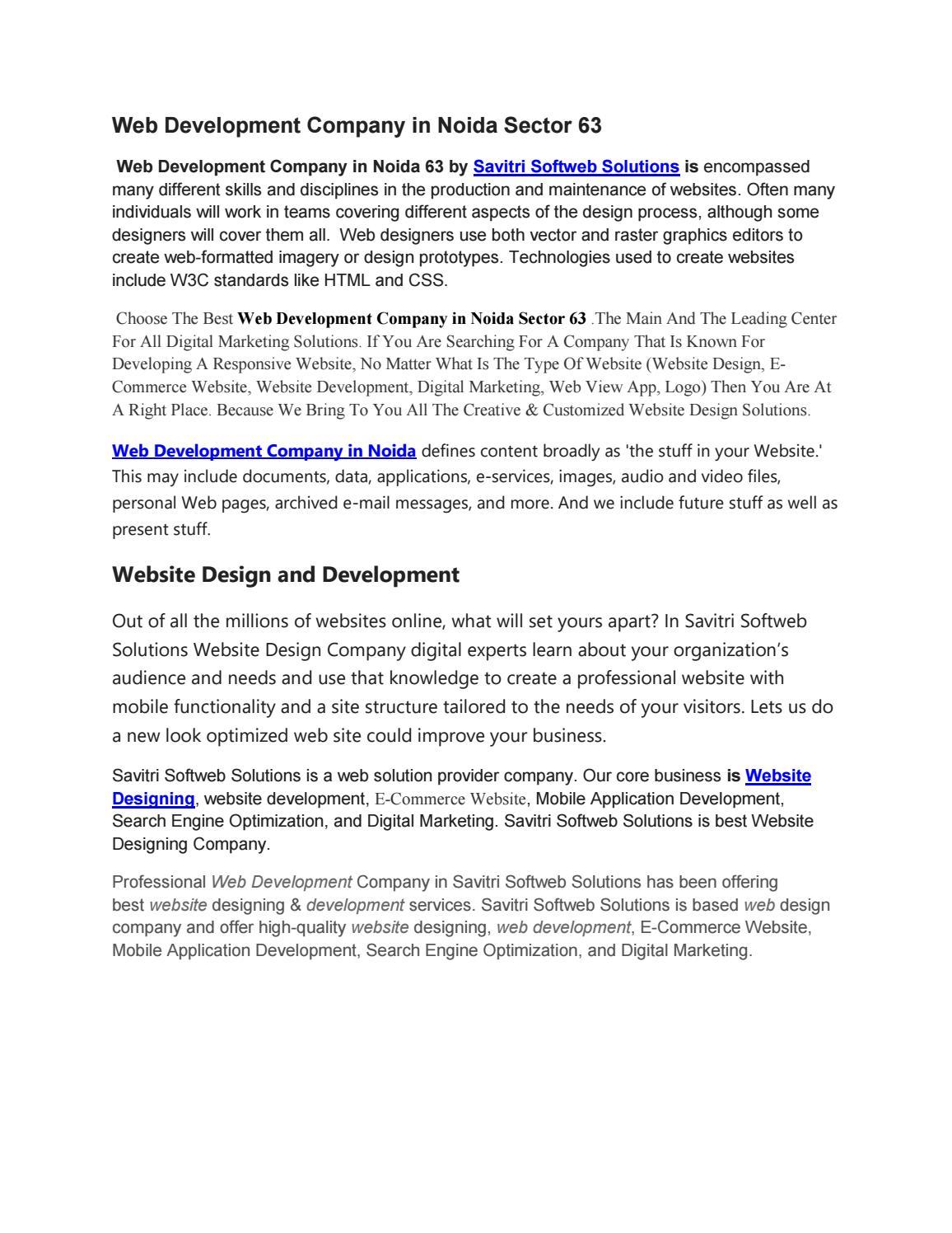 Web Development Company in Noida Sector 63 | Web development