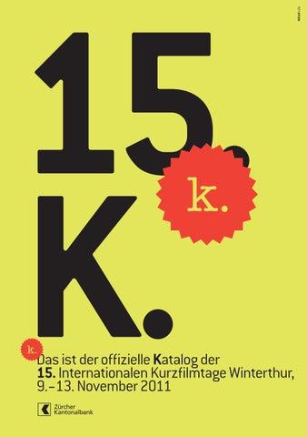 Katalog 15 Internationale Kurzfilmtage Winterthur By Int
