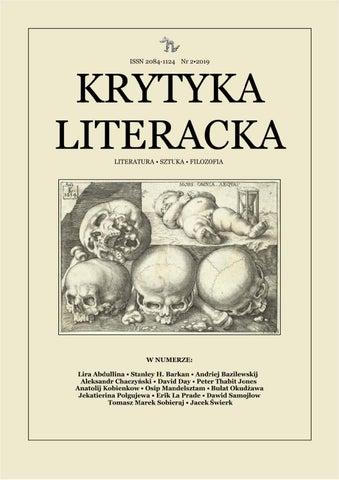 Krytyka Literacka Lato 2019 By Krytyka Literacka Issuu