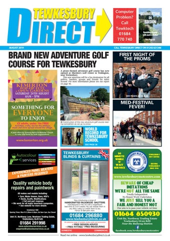 Tewkesbury Direct Magazine August 2019 By Tewkesbury Direct