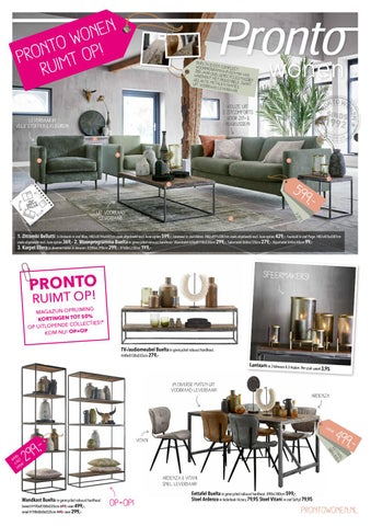 Pronto Wonen Folder By Home Center Issuu