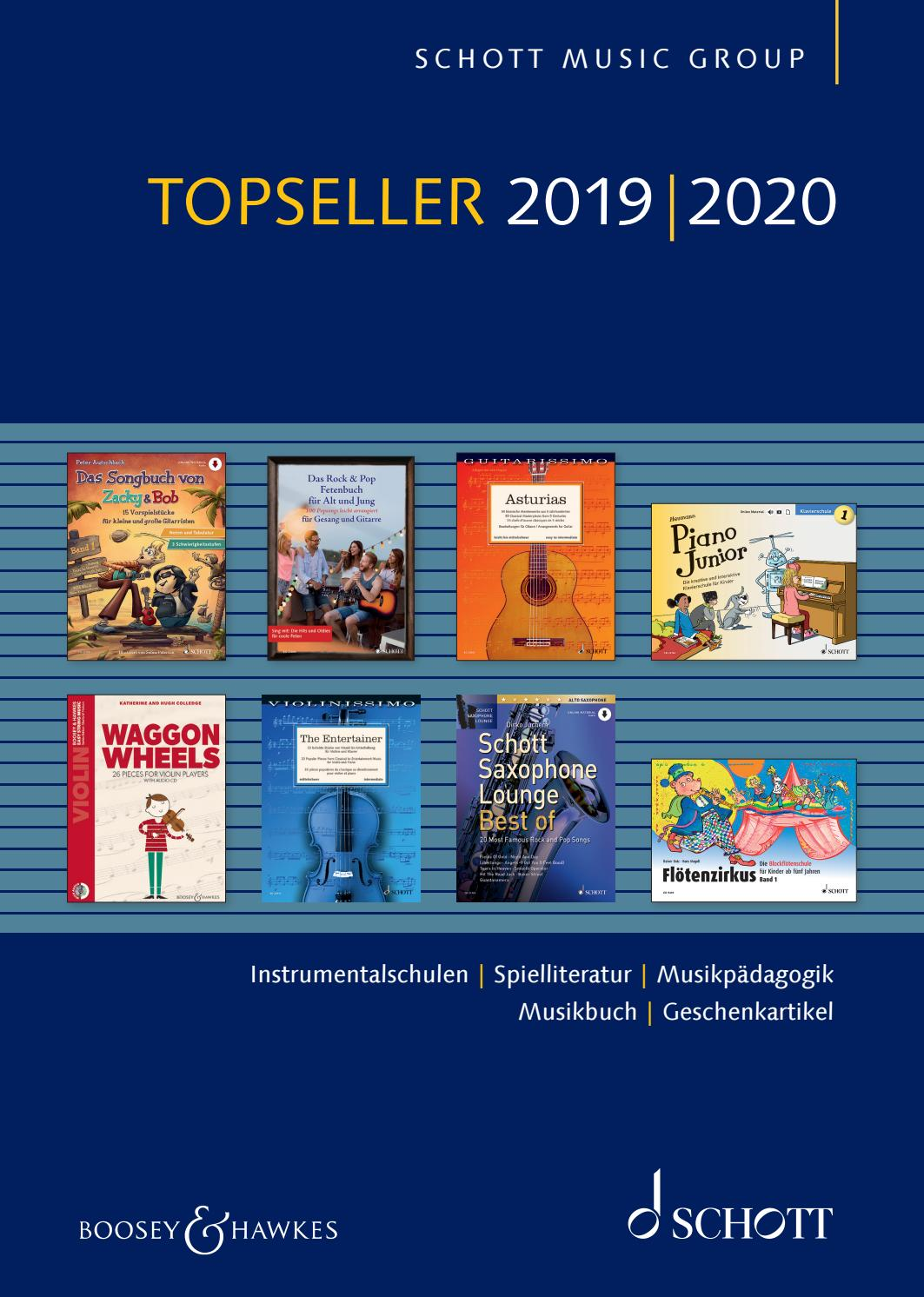 Topseller 2019 2020 By Schott Music Issuu