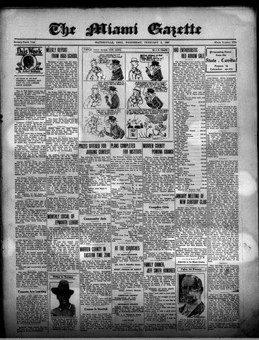 Miami Gazette February 2, 1927 - January 4, 1928 by