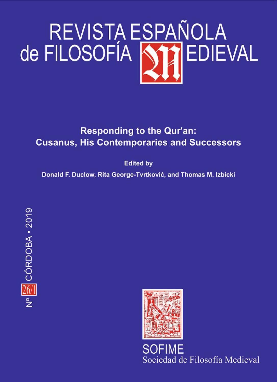 Revista Española De Filosofía Medieval 26 1 2019 By Nicola