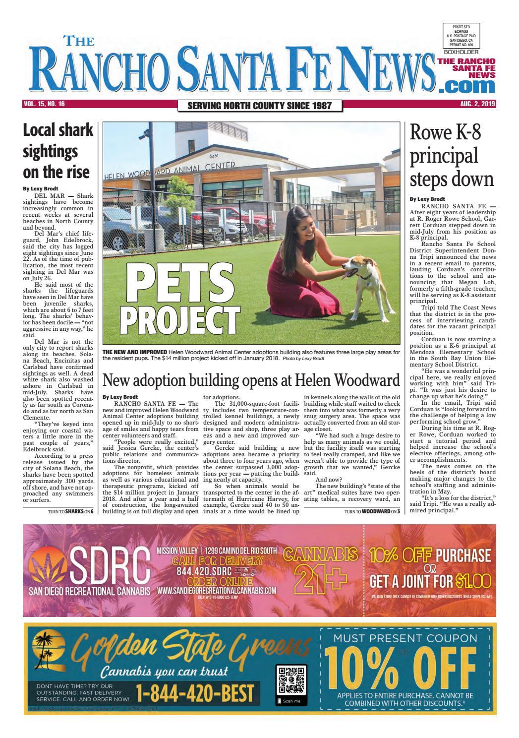 Rancho Santa Fe News, August 2, 2019 by Coast News Group - issuu