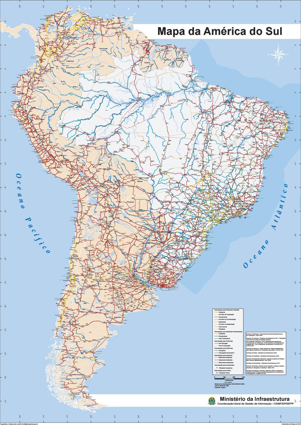 Mapa América do Sul by cgsig mt - issuu
