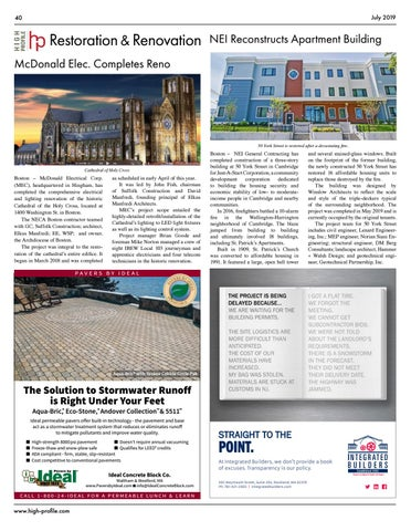 Page 40 of NEI General Contracting reconstructs #CambridgeMA apartment building in partnership with Just-A-Start Corporation