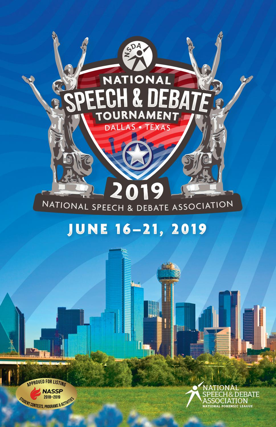 2019 Tournament Book by Speech & Debate - issuu