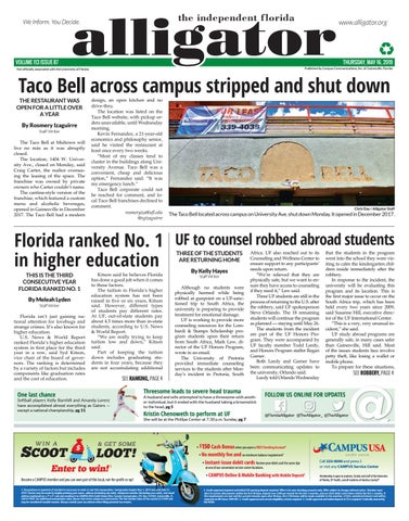 May 16, 2019 by The Independent Florida Alligator - issuu