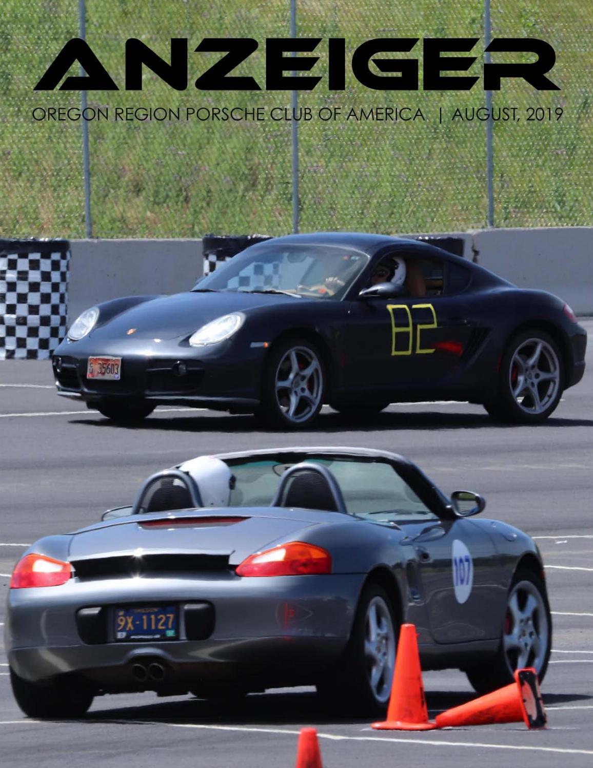 August 2019 Anzeiger by Oregon Region Porsche Club of