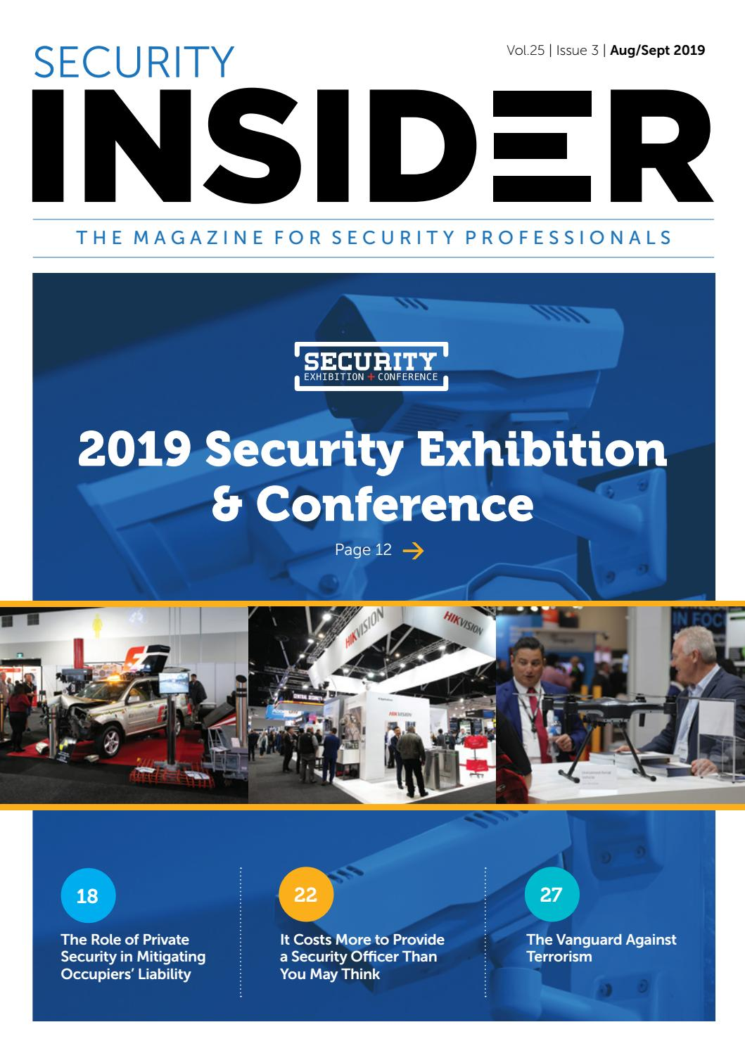 Security Insider Magazine August/ September 2019 by ASIAL ...