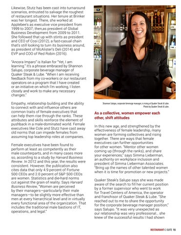 Page 15 of Women rising in the restaurant industry