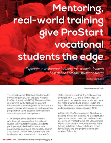Page 28 of Mentoring, real-world experiences give ProStart students the edge