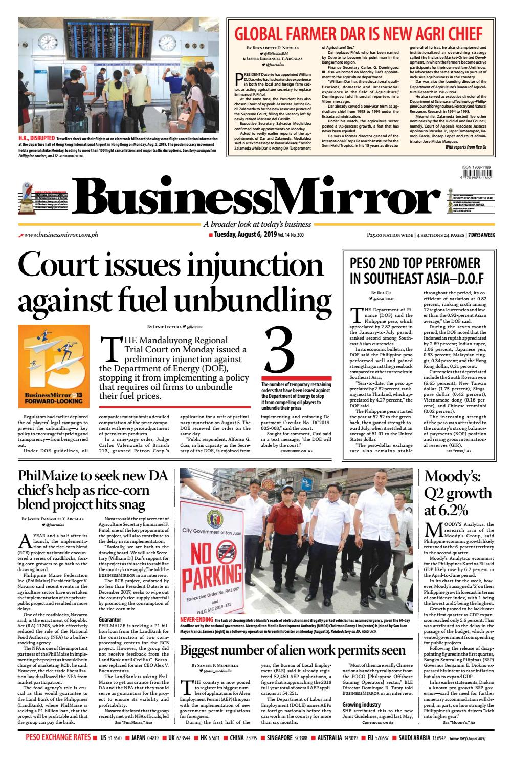 BusinessMirror August 06, 2019 by BusinessMirror - issuu