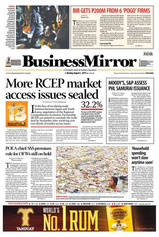 BusinessMirror August 05, 2019 by BusinessMirror - issuu