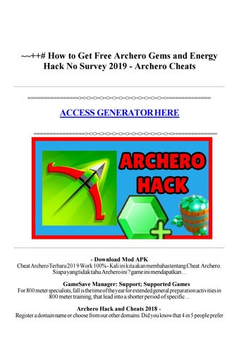 2019) How to Get Free Gems and Energy for Archero | Hack