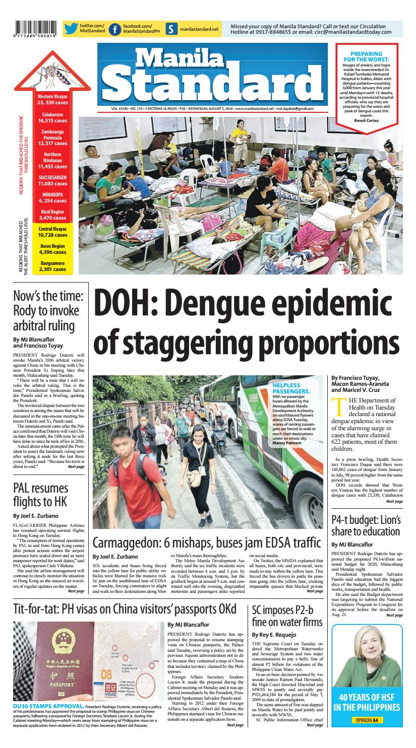 Manila Standard - 2019 August 7 - Wednesday by Manila Standard - issuu