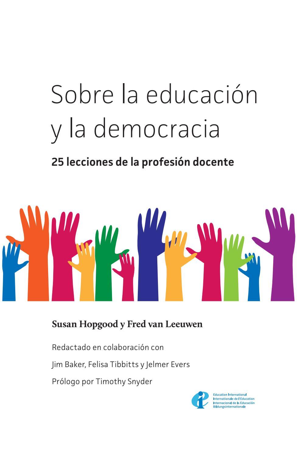 Sobre La Educación Y La Democracia 25 Lecciones De La
