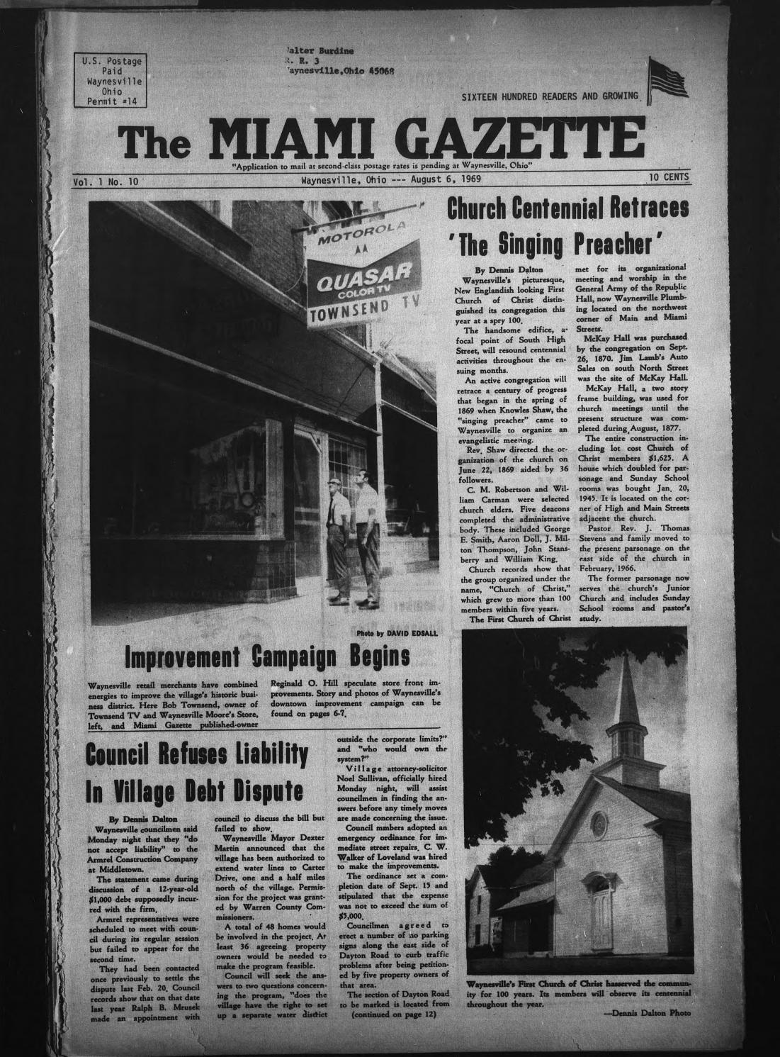 Miami Gazette August 6 1969 September 24 1969 By Marylcook Issuu