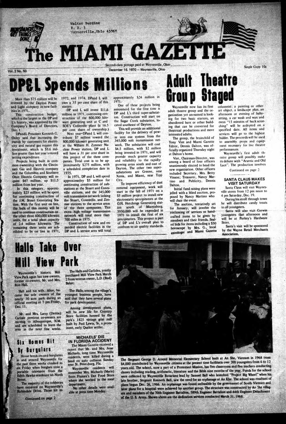 Miami Gazette December 16 1970 May 5 1971 By Marylcook Issuu