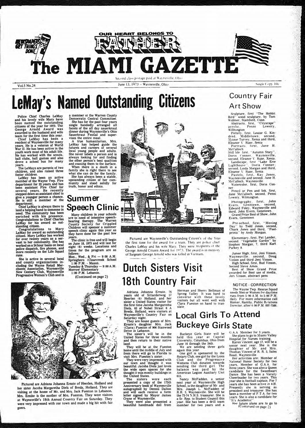 Miami Gazette June 13, 1973 November 27, 1973 by marylcook