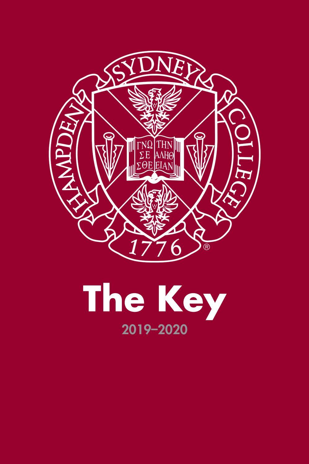 The Key: Student Handbook, 2019 by Hampden-Sydney College