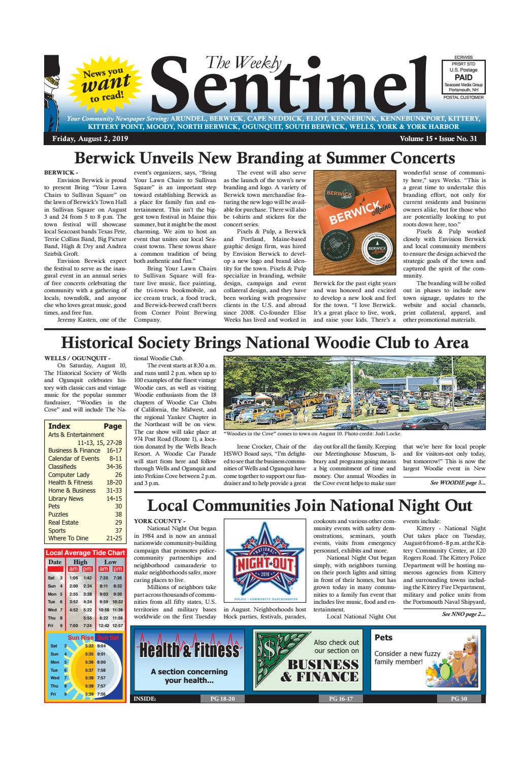 WS Aug  2, 2019 by Weekly Sentinel - issuu