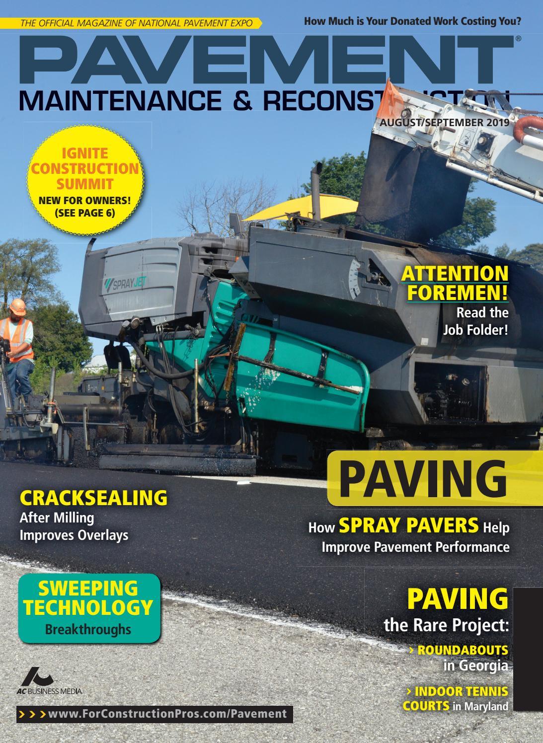 Pavement Maintenance & Reconstruction August/September 2019