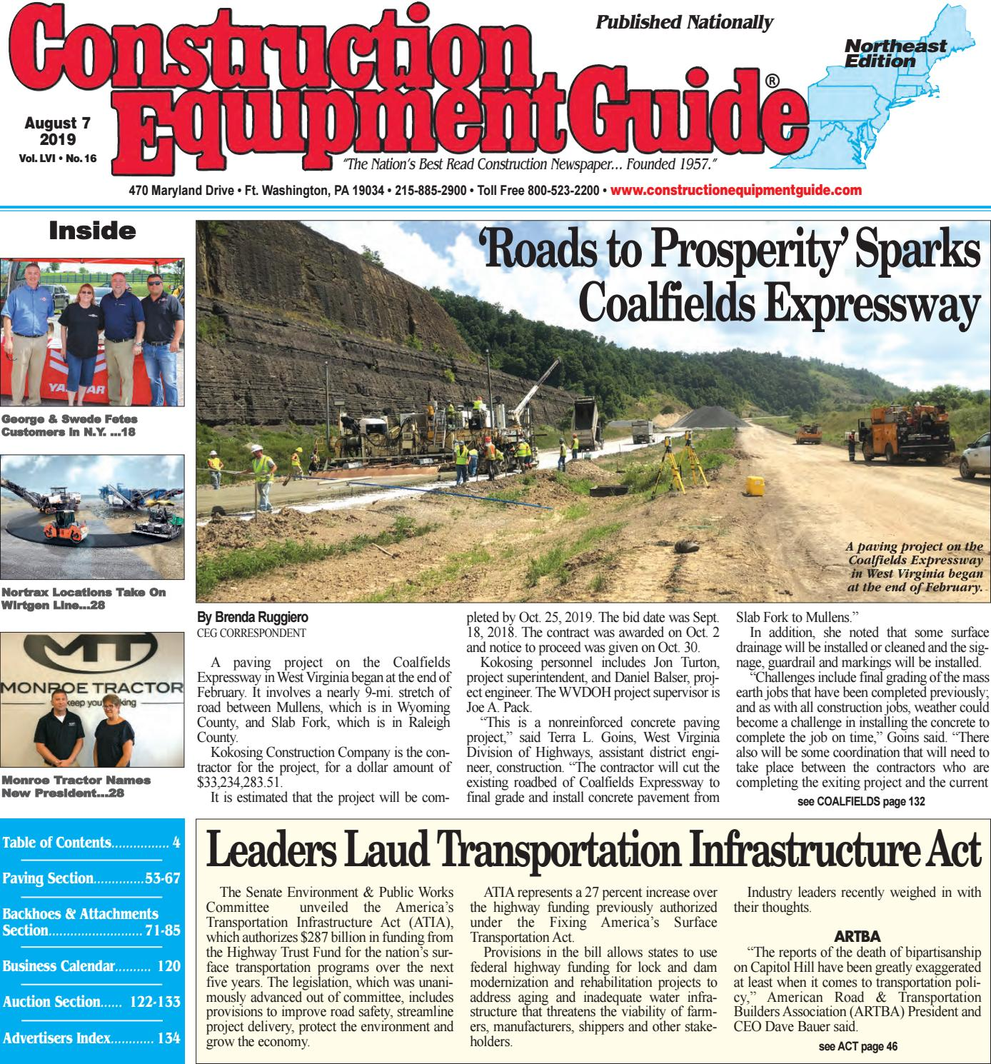 Northeast 16 August 7,2019 by Construction Equipment Guide