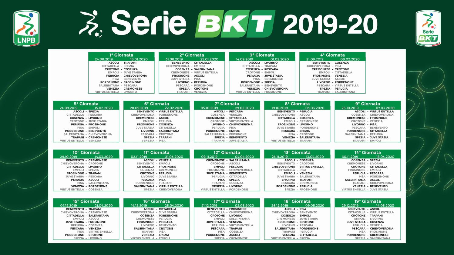 Calendario Seri.Calcio Il Calendario Di Serie B 2019 2020 By Monrif Net Issuu