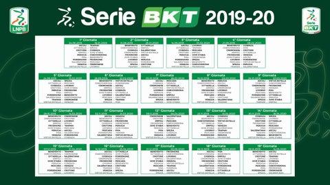 Calendario Serie Aa.Calcio Il Calendario Di Serie B 2019 2020 By Monrif Net Issuu