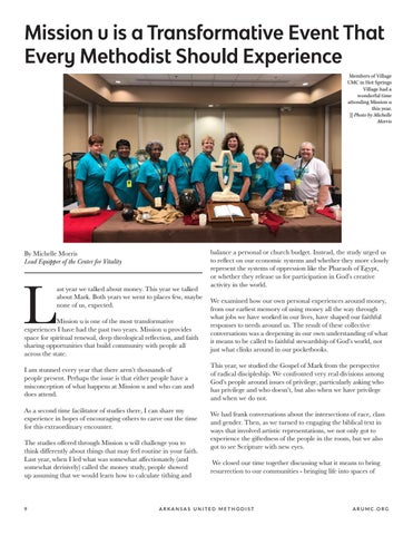 Page 10 of Mission u is a Transformative Event That Every Methodist Should Experience