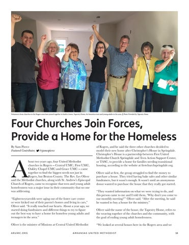 Page 19 of Four Churches Join Forces, Provide a Home for the Homeless