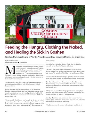 Page 22 of Feeding the Hungry, Clothing the Naked, and Healing the Sick in Goshen