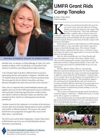 Page 2 of UMFA Grant Aids Camp Tanako