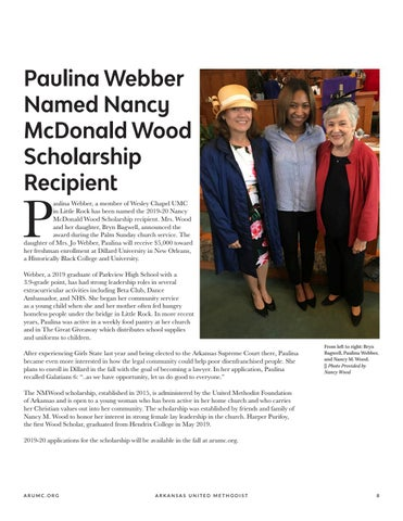 Page 9 of Paulina Webber Named Nancy McDonald Wood Scholarship Recipient